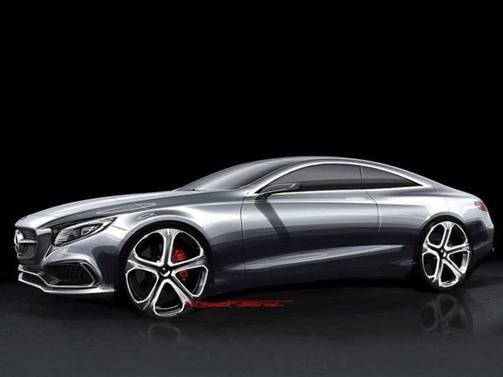 design sketches of mercedes benz s class coupe concept. Black Bedroom Furniture Sets. Home Design Ideas