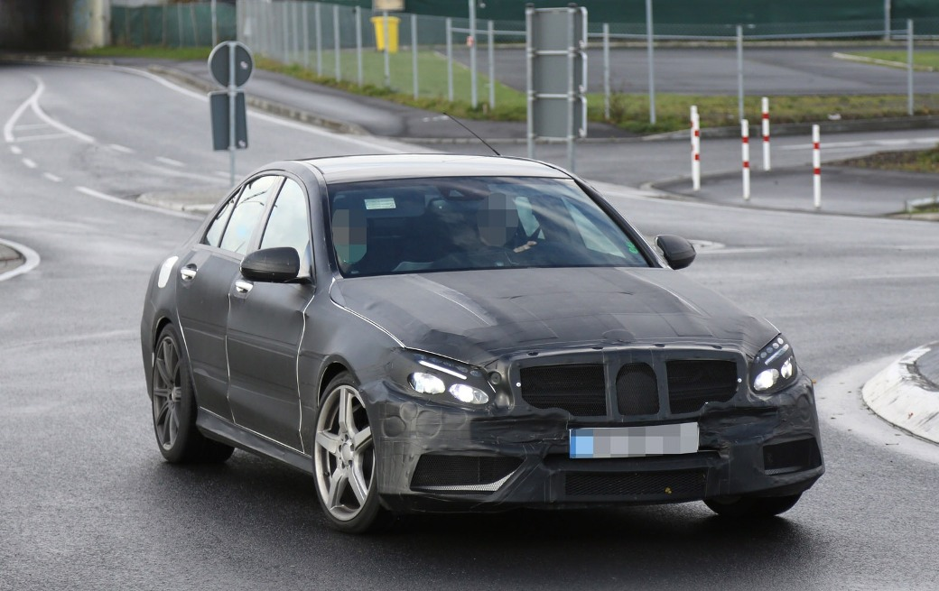 2 Spy Shots Show 2015 Mercedes Benz C63 AMG