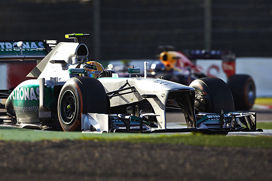 Lewis Hamilton 2013 Japanese Grand Prix Mercedes Stutters at Suzuka; Rosberg 8th in 2013 Japanese GP