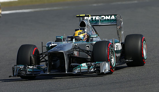 Lewis Hamilton Mercedes AMG Petronas 2013 Korean Grand Prix Hamilton 5th, Rosberg 7th in 2013 Korean Grand Prix
