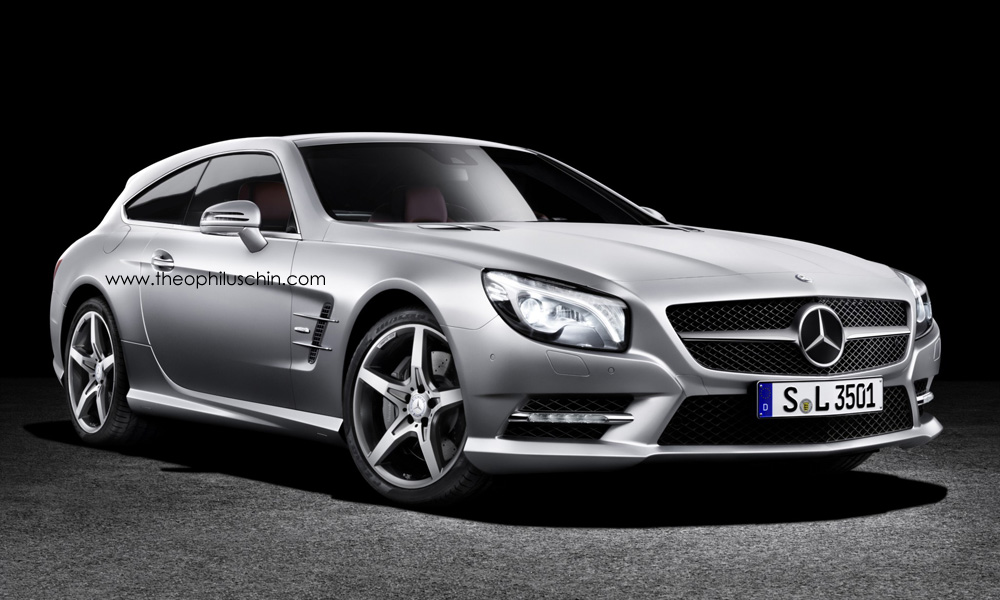 1 Latest Rendering Of The Mercedes Benz SL Shooting Brake