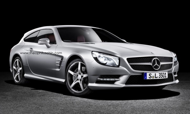 Latest Rendering Of The Mercedes-Benz SL Shooting Brake