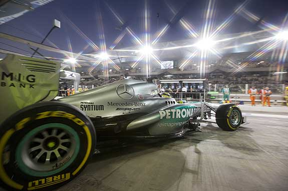 2013 Abu Dhabi Grand Prix Mercedes Mercedes Rosberg Finishes in Podium; Hamilton 7th at Abu Dhabi GP