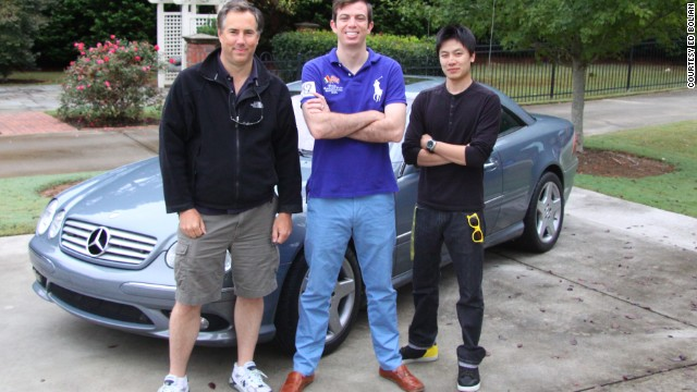 Ed Bolian with Crew and Mercedes-Benz CL55 AMG