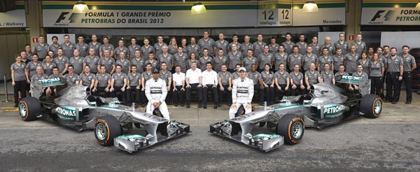 Mercedes AMG Petronas F1 2013 Rosberg 5th, Hamilton 9th as Mercedes Bags Second in the 2013 F1 Season