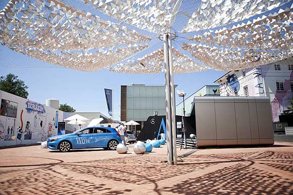 Mercedes Benz A Class Pavilion A Class Pavilion and Roadshow Gives Mercedes Benz a Golden Apple at ADAM Awards