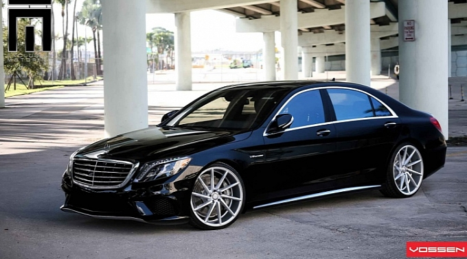 111 Twenty Two Inch Wheels From Vossen Provided For The 2014 Mercedes S63 AMG