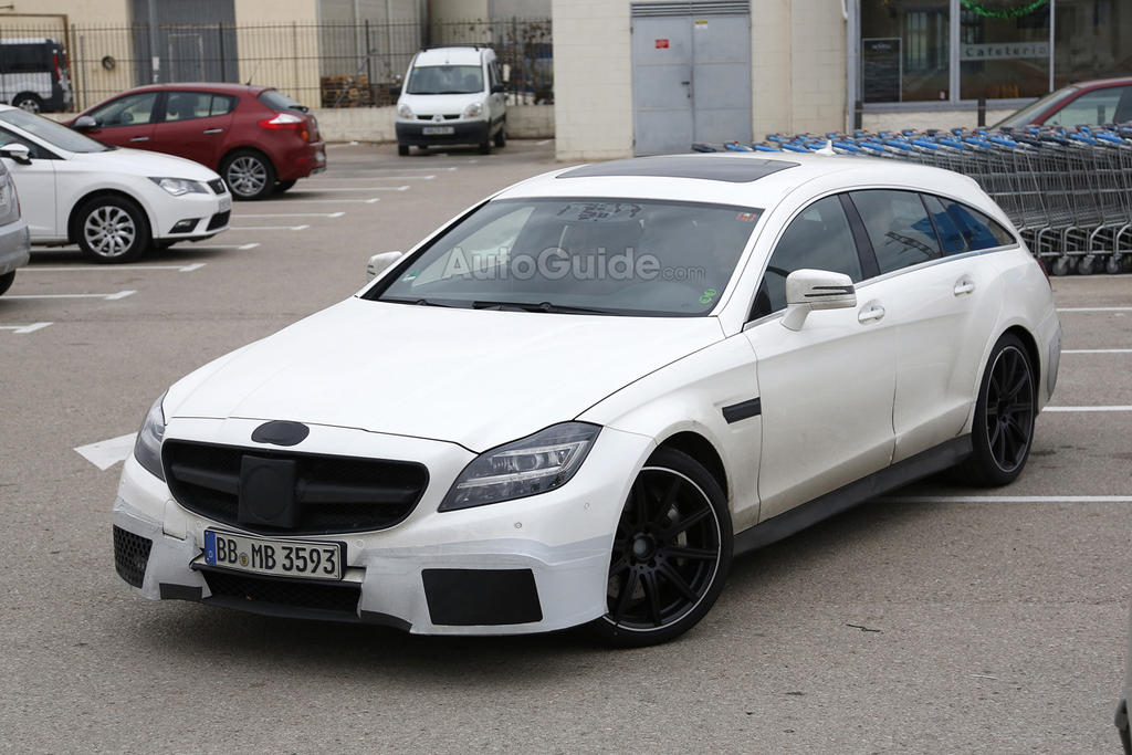 227 Spy Images Of 2015 Mercedes Benz CLS63 AMG Shooting Brake Emerge