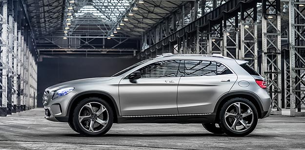 Mercedes Benz Concept GLA exterior Mercedes Benz GLA Production Commences