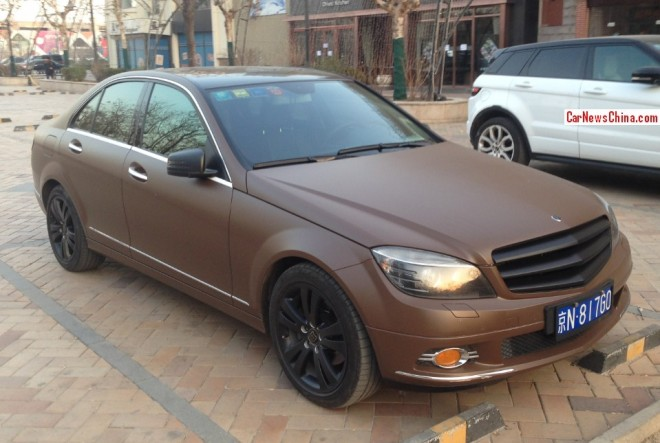 mercedes c class Mercedes C Class Painted in Poo Brown Color Spotted