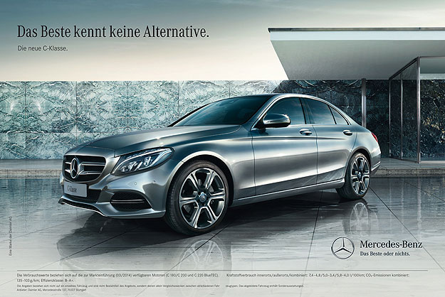 2014 Mercedes Benz C Class The best knows no alternative is Mercedes Benz C Class marketing tagline
