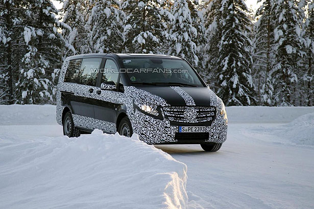 2014 Mercedes Benz V Class winter testing 04 Mercedes Benz V Class Out and About in Winter Testing