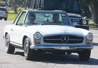 Harry Styles Seen Cruising in his 1966 Mercedes SL 3