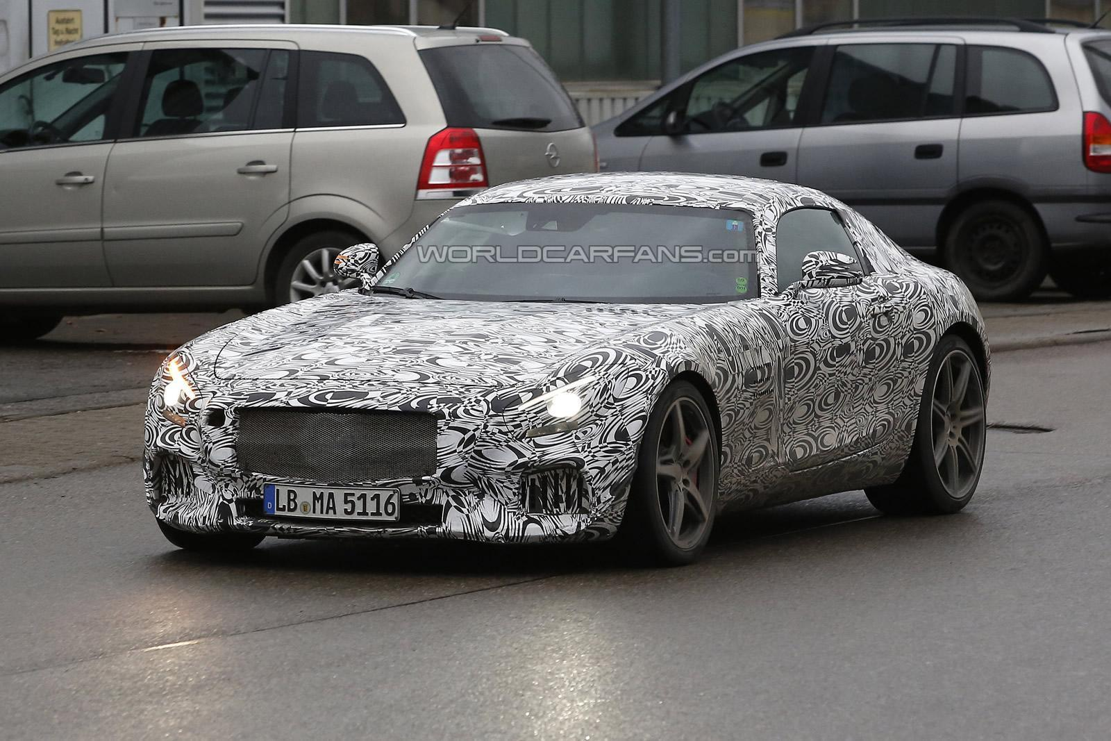 Original Spy Shot of 2015 Mercedes AMG GT