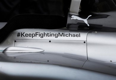 keep fighting michael on the mercedes w05