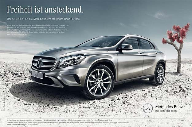 New Mercedes Benz GLA Always reckless campaign 01 Always restless: the Mercedes Benz GLA market launch campaign in Germany