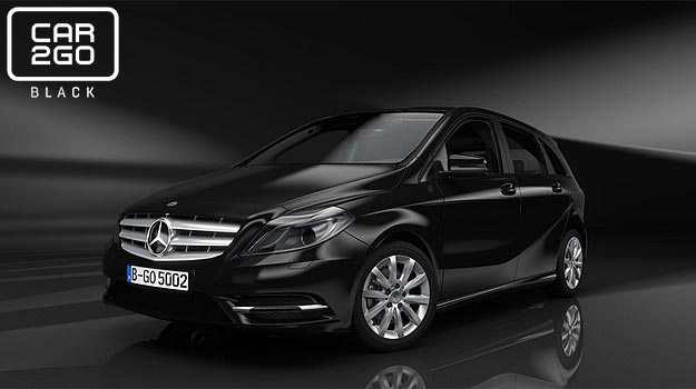 car2go Black Mercedes Benz B Class Mercedes Benz B Class to banner new car2go Black service