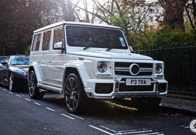 All-White Mercedes-Benz Brabus G63 AMG B63-620 OF Petra Ecclestone Spotted