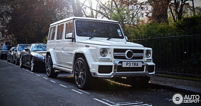 All White Mercedes Benz Brabus G63 Amg B63 620 Of Petra