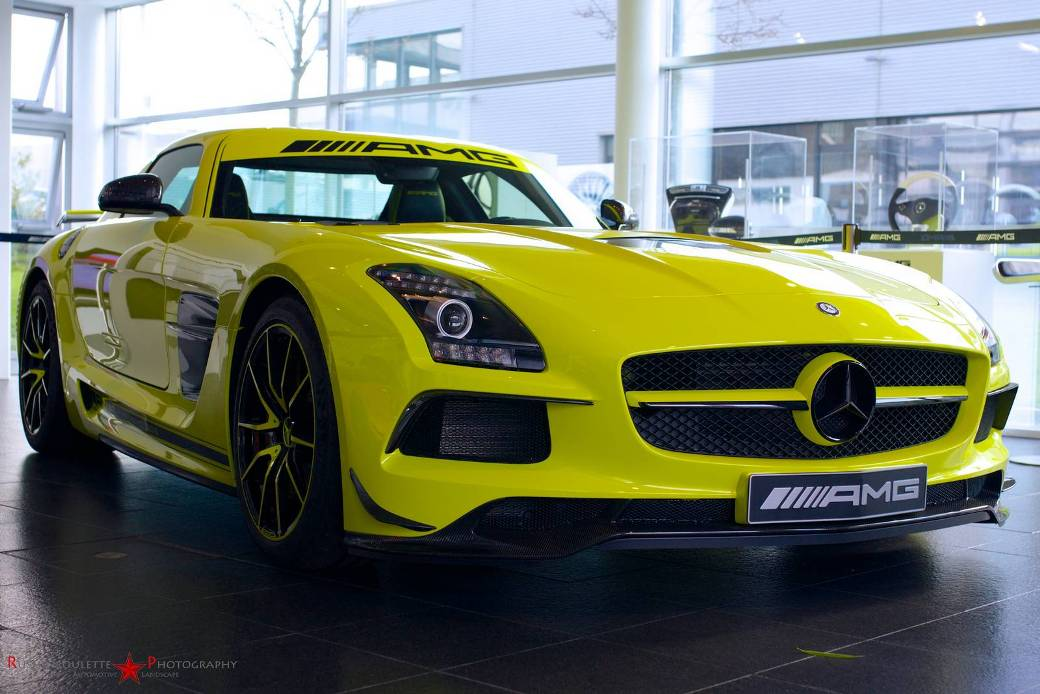 137 Yellow Colored Mercedes Benz SLS AMG Black Series Spotted In AMG Showroom