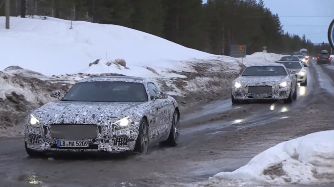 16 Mercedes Benz AMG GT Prototype Spotted