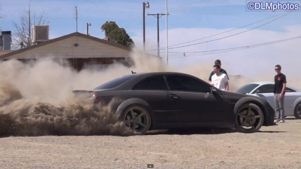 314 Mercedes Benz CLK 63 AMG Black Series Drifting In The Desert