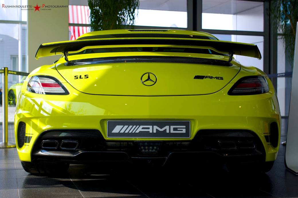Yellow Colored Mercedes Benz Sls Amg Black Series Spotted