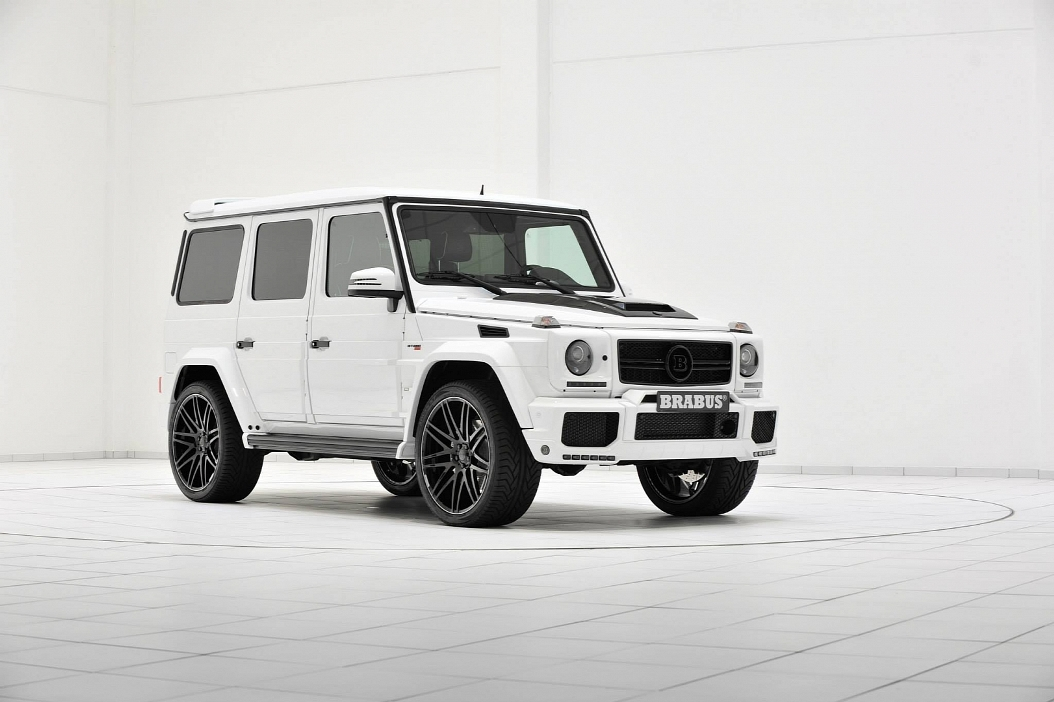Mercedes benz g63 amg given a storm trooper look by brabus for 2014 mercedes benz g63 amg