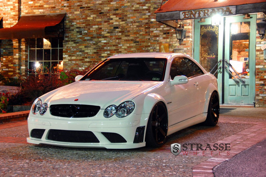 61 Mercedes Benz CLK63 AMG Black Series Given Strasse Wheels And Enhanced Power