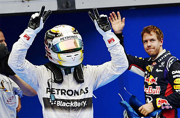 Mercedes AMG Petronas Lewis Hamilton 2014 Malaysian Grand Prix 600 Hamilton takes pole for Mercedes AMG Petronas at Malaysian GP