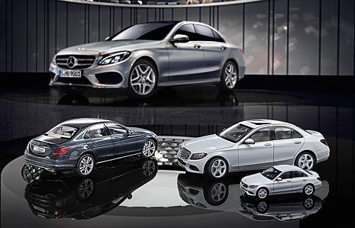 new mercedes benz c class gets the collectible miniature