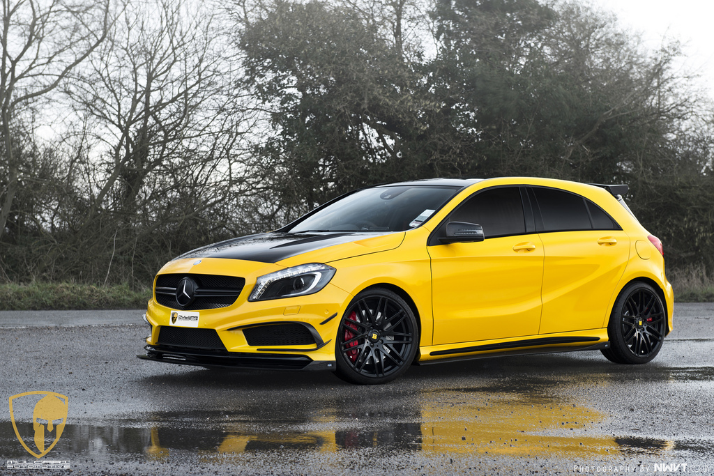 a look at the mercedes a45 amg project of revozport and. Black Bedroom Furniture Sets. Home Design Ideas
