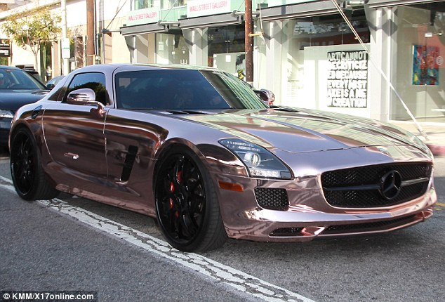 mercedes sls amg of tyga 1 A Look at Tygas Rose Gold Finish Mercedes SLS AMG