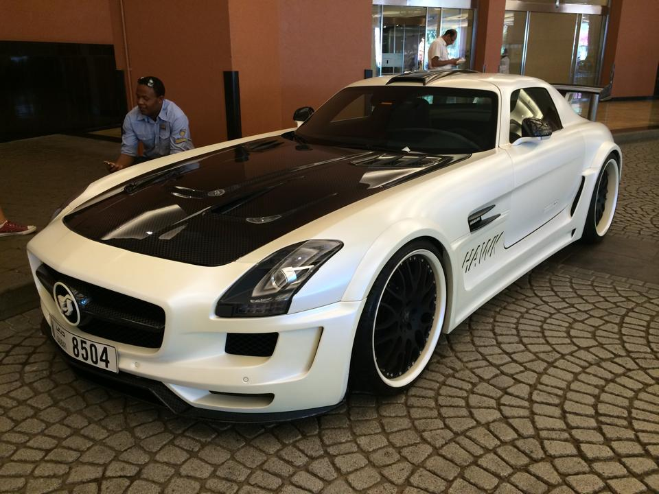 White Hamann Hawk Mercedes SLS AMG Spotted In Dubai