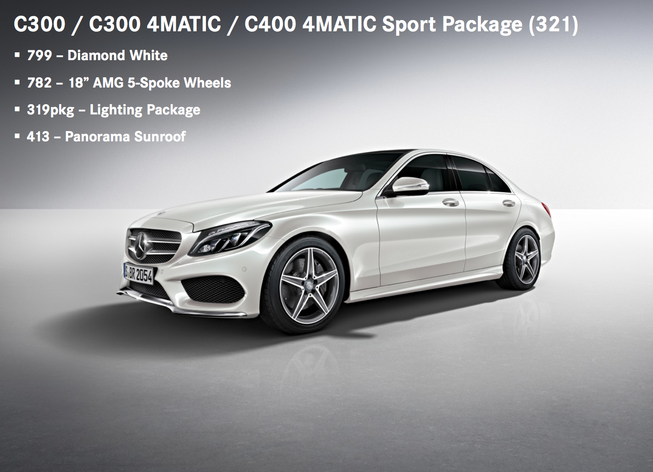 2015 mercedes c class order guide revealed benzinsider for Mercedes benz 2015 c class price