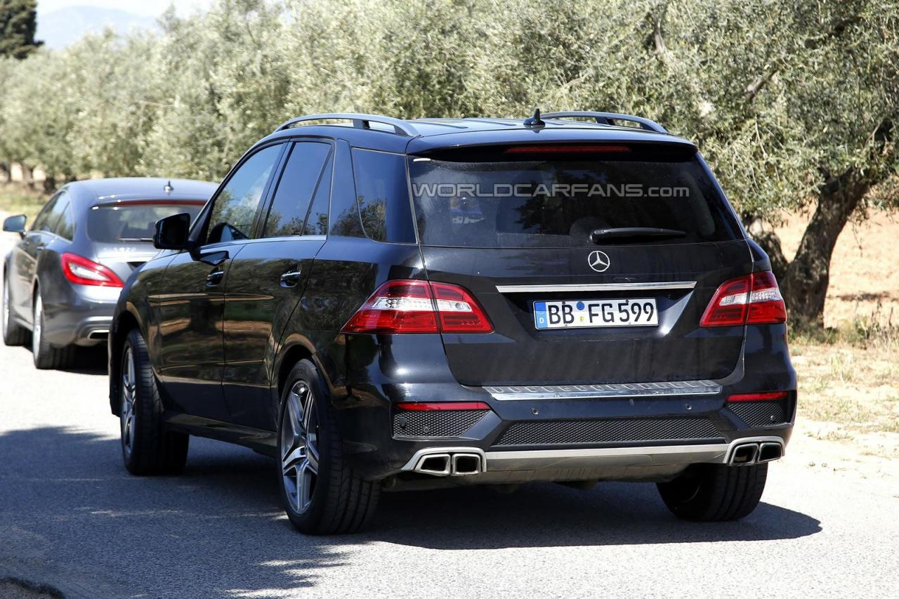 2015 mercedes ml63 amg spied a mercedes benz fan blog. Black Bedroom Furniture Sets. Home Design Ideas
