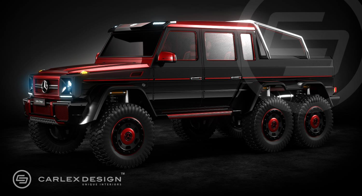 mercedes g63 amg 6x6 rendering by carlex design. Black Bedroom Furniture Sets. Home Design Ideas