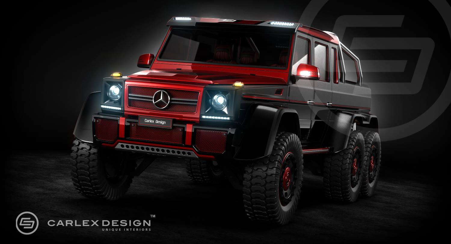 mercedes g63 amg 6x6 rendering by carlex design a mercedes benz fan blog. Black Bedroom Furniture Sets. Home Design Ideas