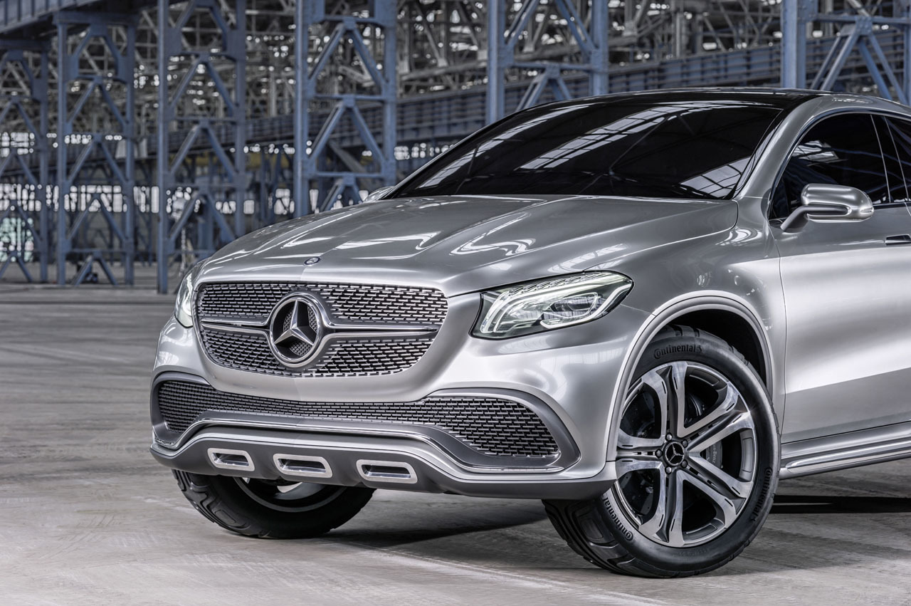 Mercedes concept coupe suv revealed in beijing motor show for Mercedes benze suv