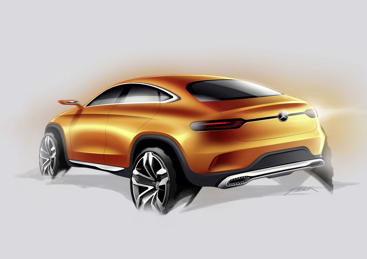 Mercedes concept coupe suv revealed in beijing motor show for Mercedes benz coupe suv