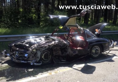Mille Miglia Accident Wrecks 1956 Mercedes-Benz 300 SL