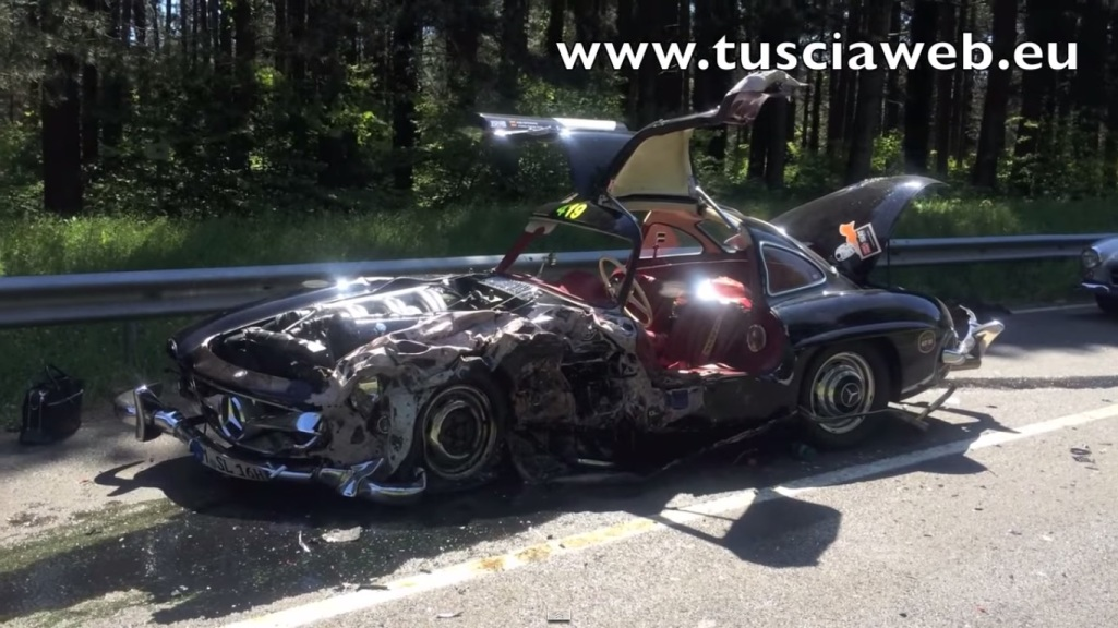 137 Mille Miglia Accident Wrecks 1956 Mercedes Benz 300 SL