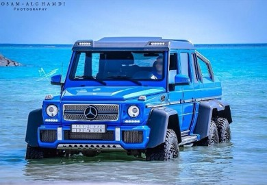 Bright Blue Mercedes-Benz G63 AMG 6X6 Spotted In Saudi Arabia
