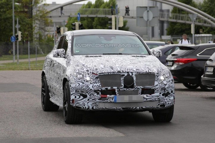 Latest Spy Shots Of The Mercedes-Benz MLC