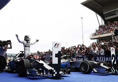 Mercedes AMG Petronas F1 driver Lewis Hamilton wins 2014 Spanish Grand Prix