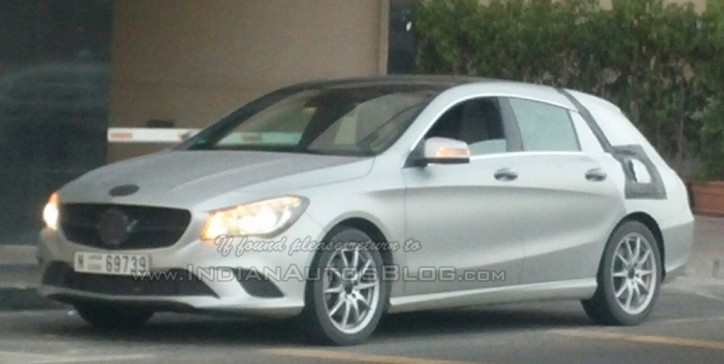 Latest Mercedes-Benz CLA Shooting Brake Seen In Dubai
