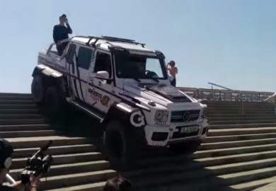 Barcelona Stairs Is No Match For The Mercedes-Benz G63 AMG 6×6