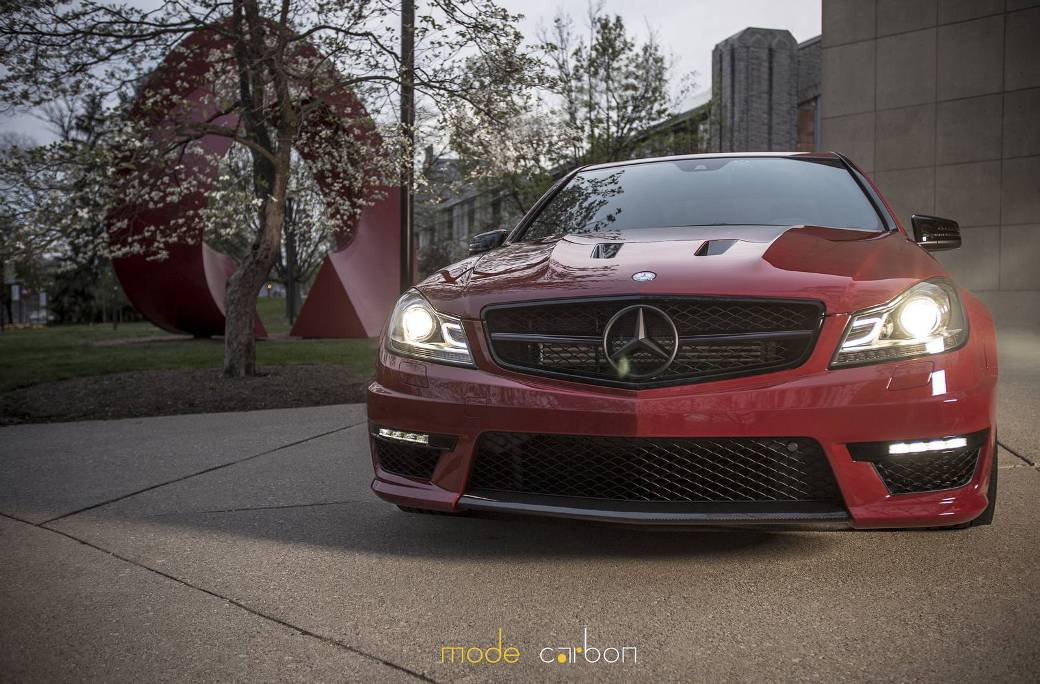 Mode Carbon Enhances Red Mercedes-Benz C63 AMG Edition 507
