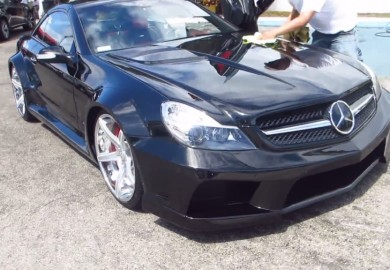Customized Mercedes-Benz SL65 AMG of Ice-T Shown On CF Charities Event