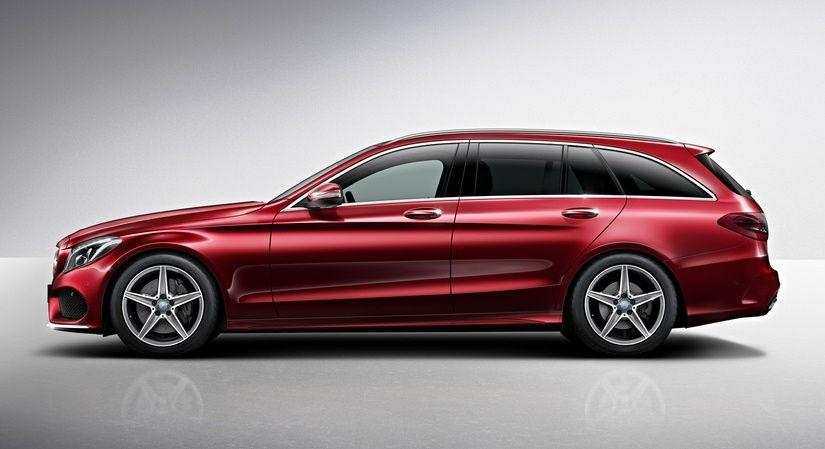 mercedes benz c class estate amg line officially unveiled   benzinsider     a mercedes benz